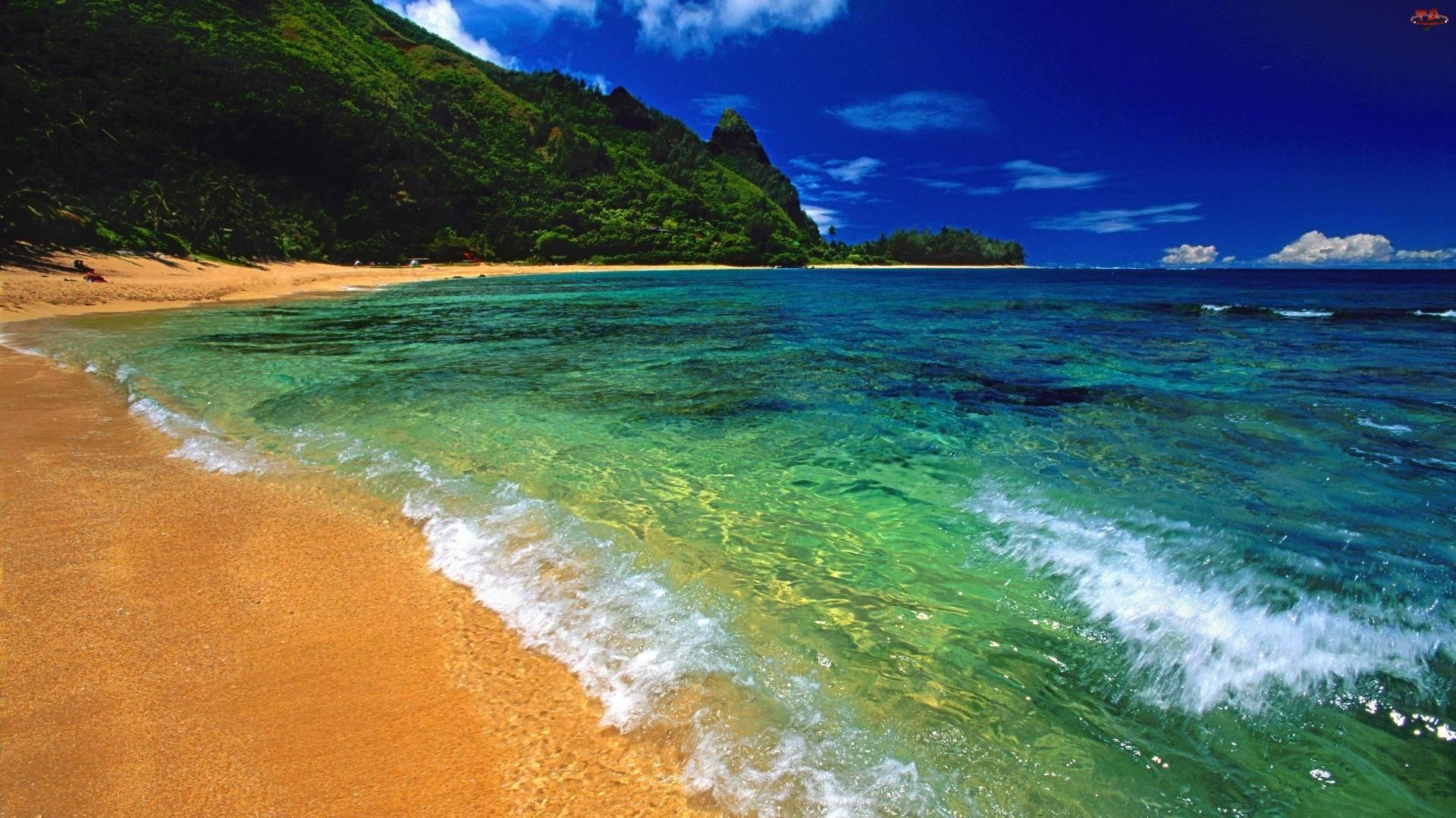 Lazurowe, Wybrzeże, Morze, Plaża