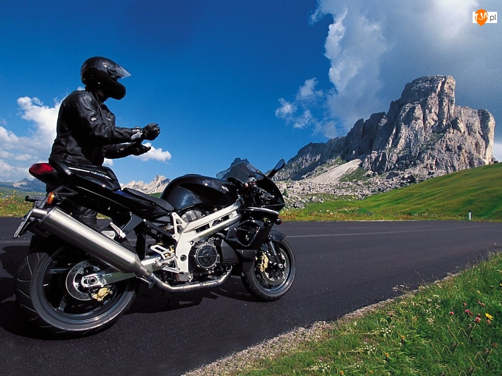 Motocyklista  Widoki  Motor  G  Ry
