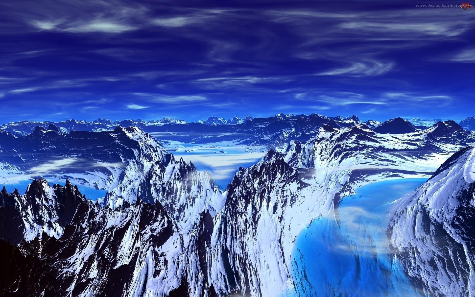 Niebo, Krajobraz, Gór