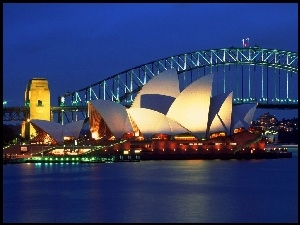 Sydney Opera House, Australia, Zatoka Port Jackson, Sydney, Most Sydney Harbour Bridge