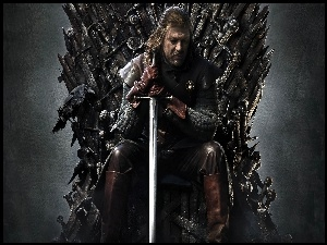 Game of Thrones, Kruk, Gra o tron, Sean Bean, Miecz