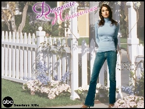 Desperate Housewives, płot, Teri Hatcher, biały