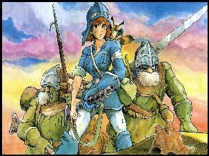 Nausicaa Of The Valley Of Mist, Rysunek, Manga, Anime