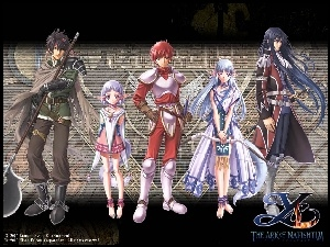 Ys Vi The Ark Of Napishtim, grafika, postacie, manga