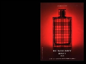 Burberry, flakon, red, perfumy