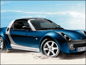 Smart Roadster Bluestar, Morze, 2005, Piasek