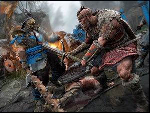 Samuraj, Shugoki, Broń, For Honor, Bitwa, Gaidheil, Wiking