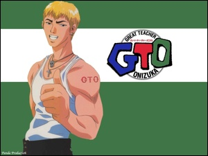 logo, Great Teacher Onizuka, facet, biceps, gto