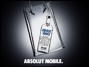 butelka, Vodka, Absolut