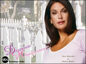Desperate Housewives, napis, Teri Hatcher, płot