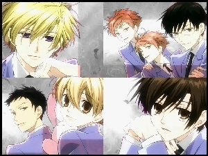 oczy, Ouran High School Host Club, ludzie