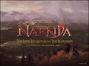 las, The Chronicles Of Narnia, krajobraz, napis, góry