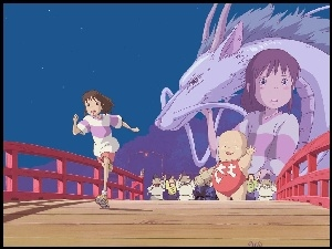 most, Spirited Away, postacie