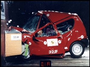 Test, Fiat Seicento, Crash