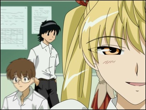 okulary, School Rumble, oko
