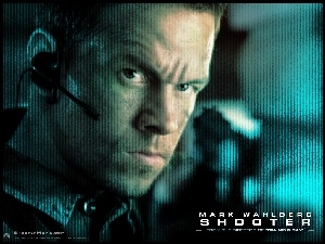 Shooter, mikrofon, Mark Wahlberg, twarz