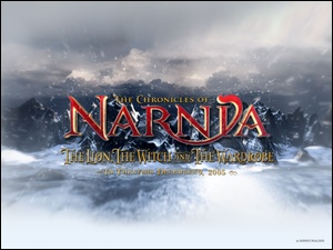 The Chronicles Of Narnia, napis, śnieg, góry