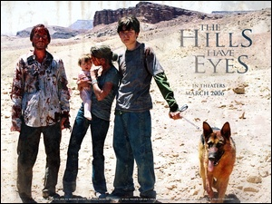 horror, postacie, The Hills Have Eyes, krew, wzgórza, pies