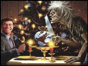 choinka, Iron Maiden, nóż