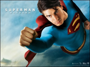 Superman Returns, pięść, Brandon Routh, leci