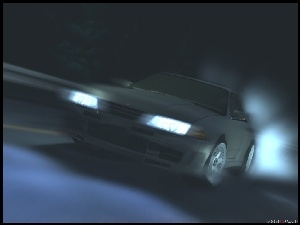 Initial D, auto, race, night