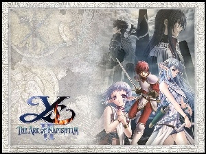 Ys Vi The Ark Of Napishtim, manga, postacie, grafika