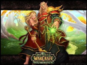 fantasy, World Of Warcraft The Burning Crusade, mężczyzna, kobieta, mag