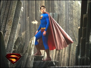 Superman Returns, beton, Brandon Routh, peleryna