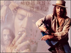 Johnny Depp, Napis