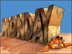 Garfield, Napis, Monday