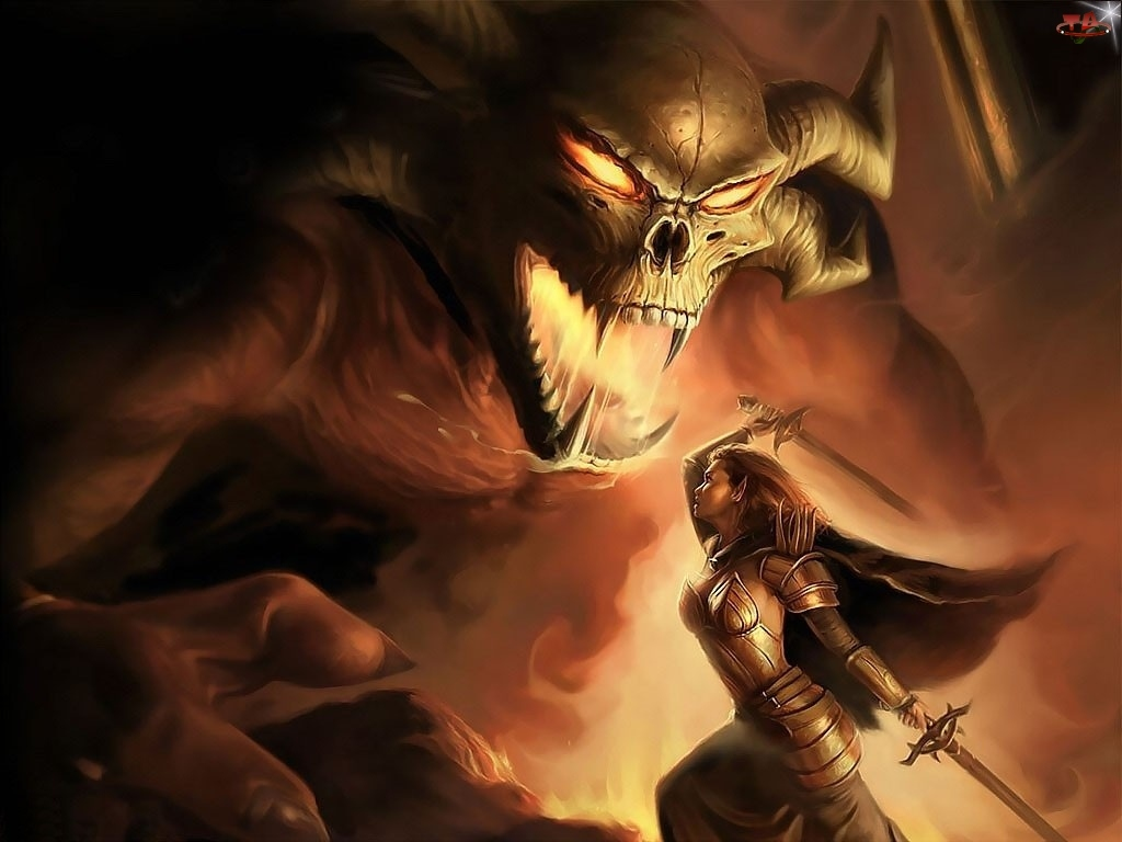 Kobieta, Walka, Demon