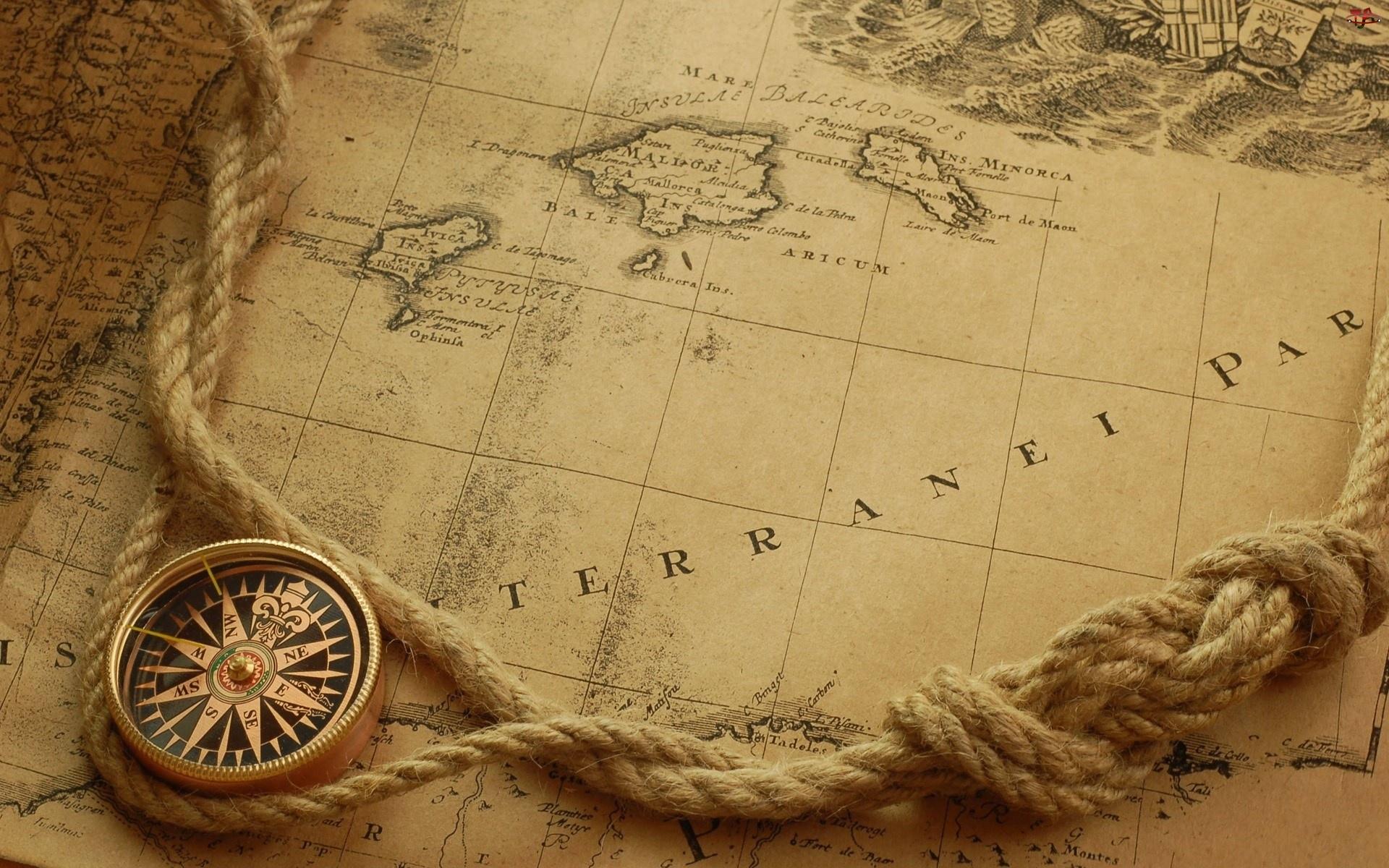 Mapa, Kompas