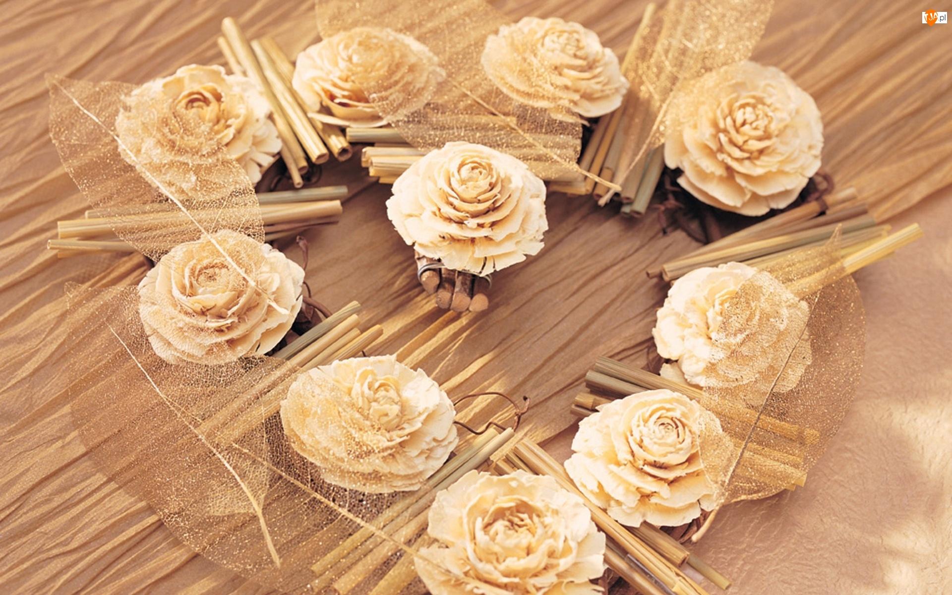 Ozdoby, Róże, Listki