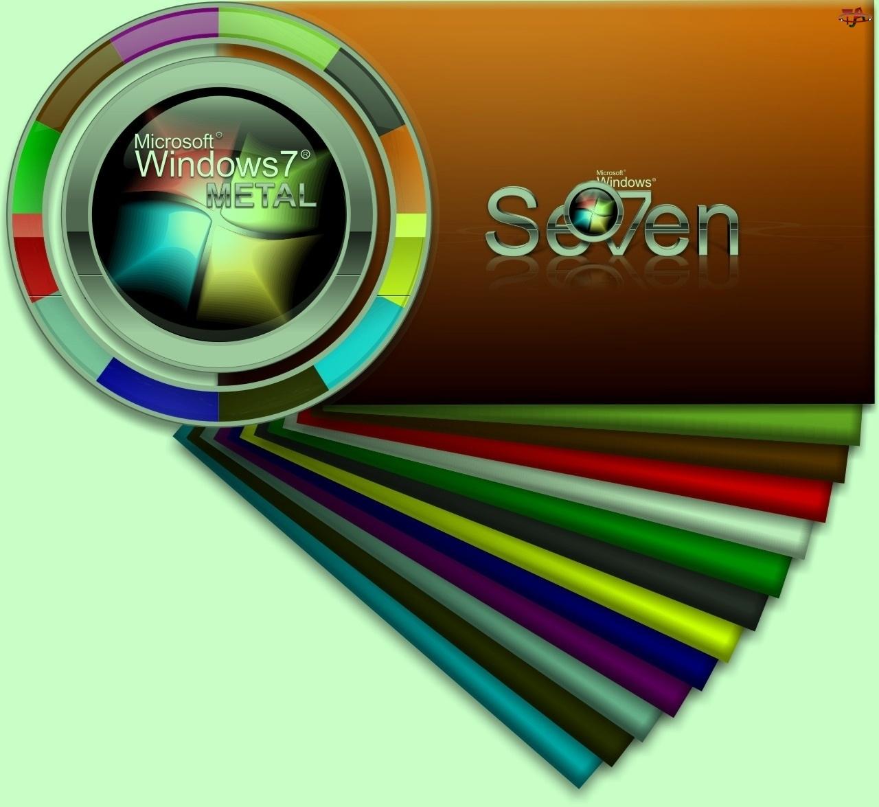 Tapeta, Windows Seven, Systemu, Operacyjnego