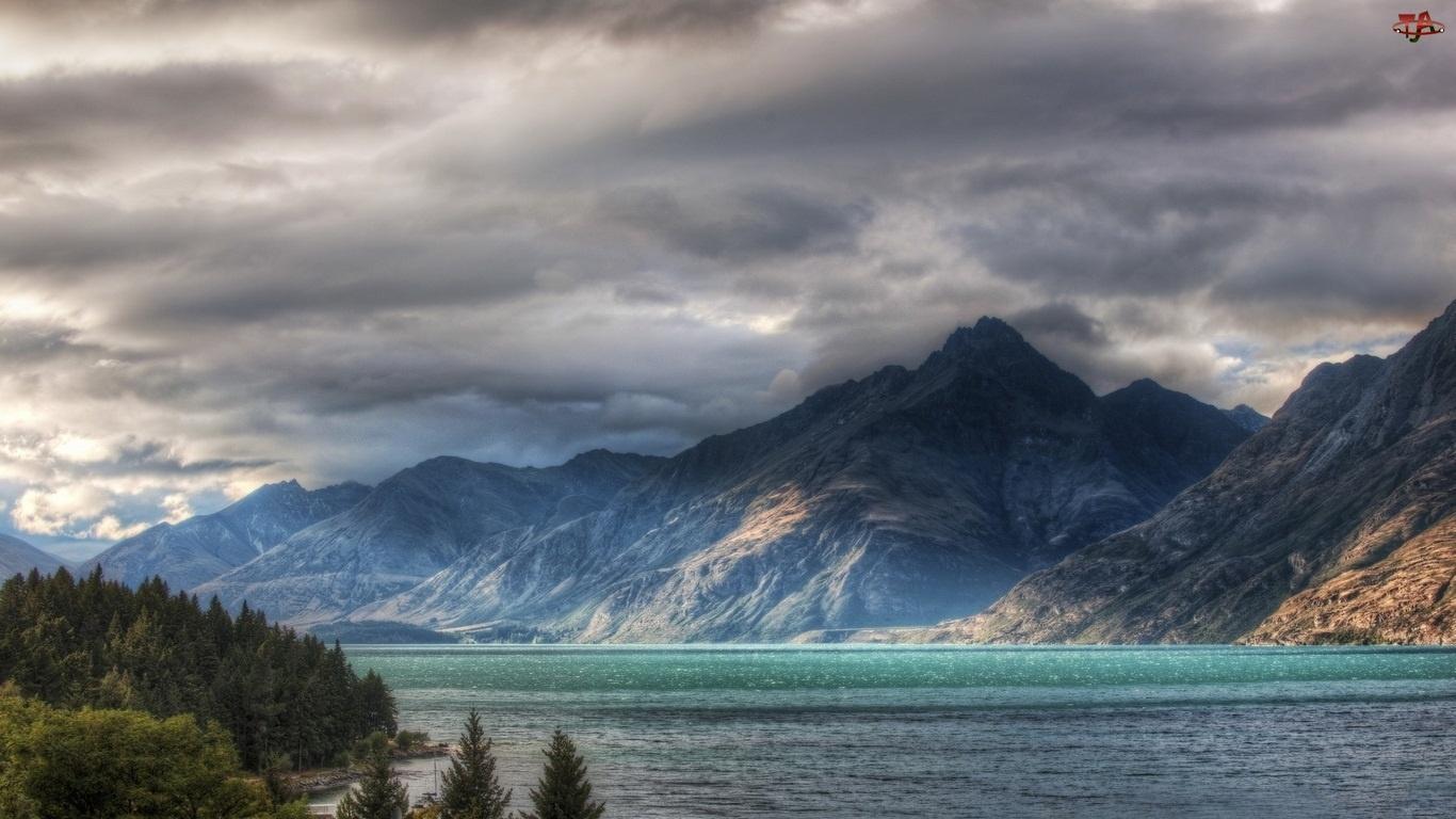 Chmury, Wielkie, Góry, Jezioro, Burzowe