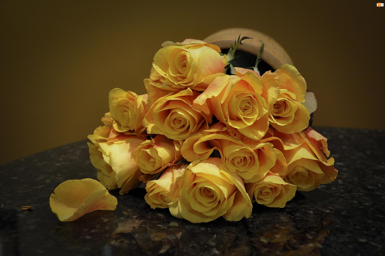 Żółte, Róże