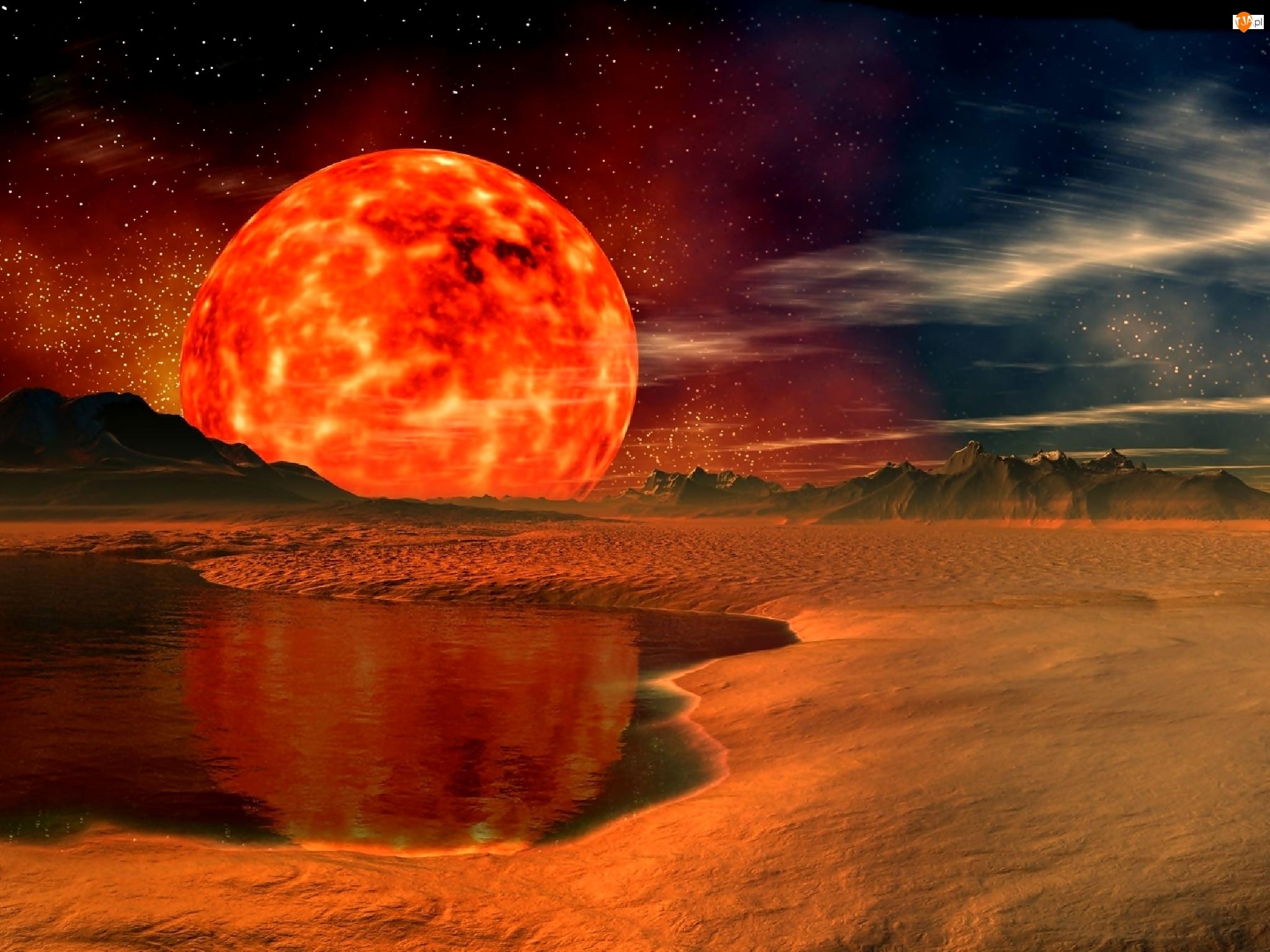 Planeta, Kosmos, Czerwona