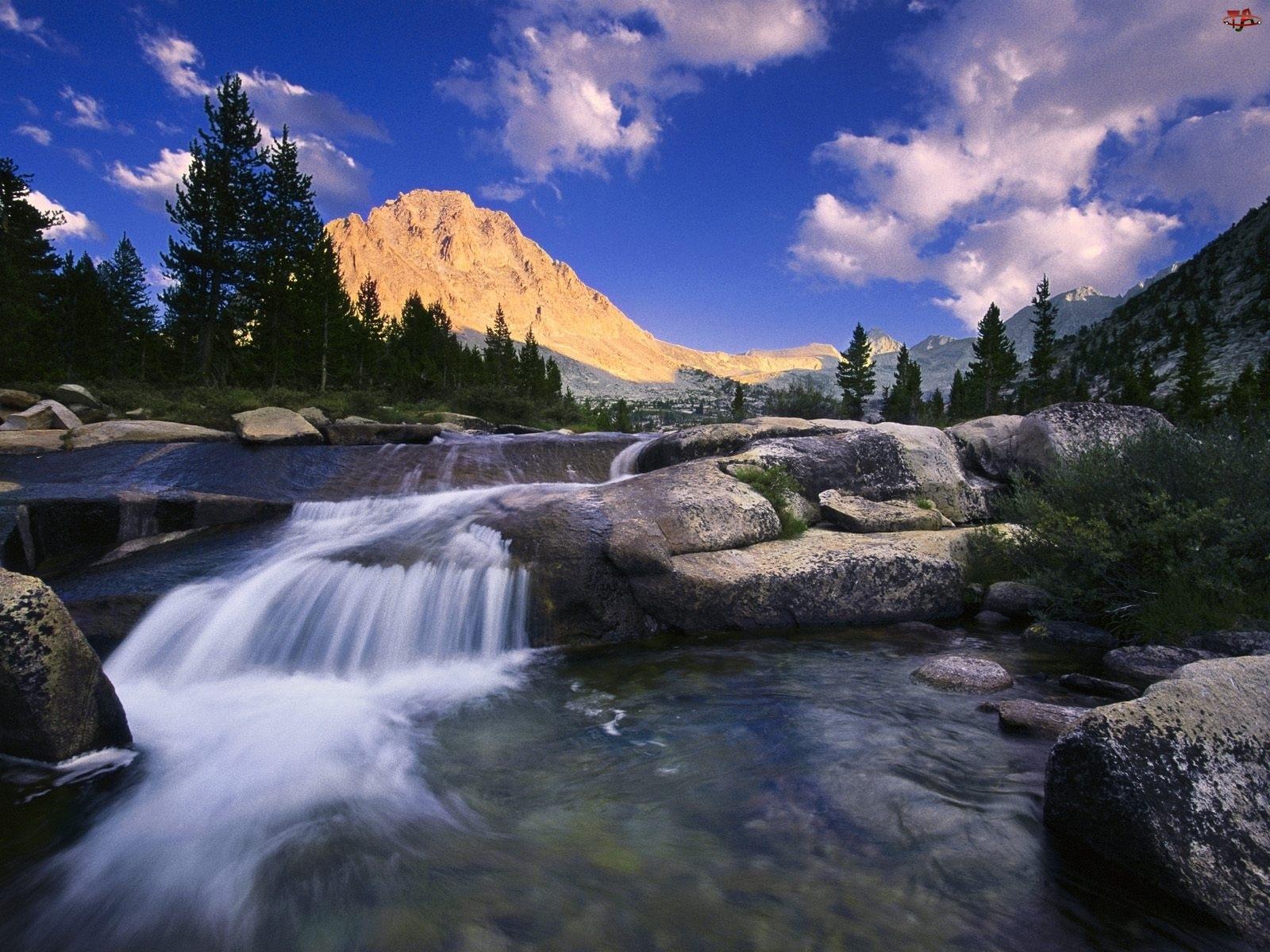 Rzeka, Las, Skały, Góry