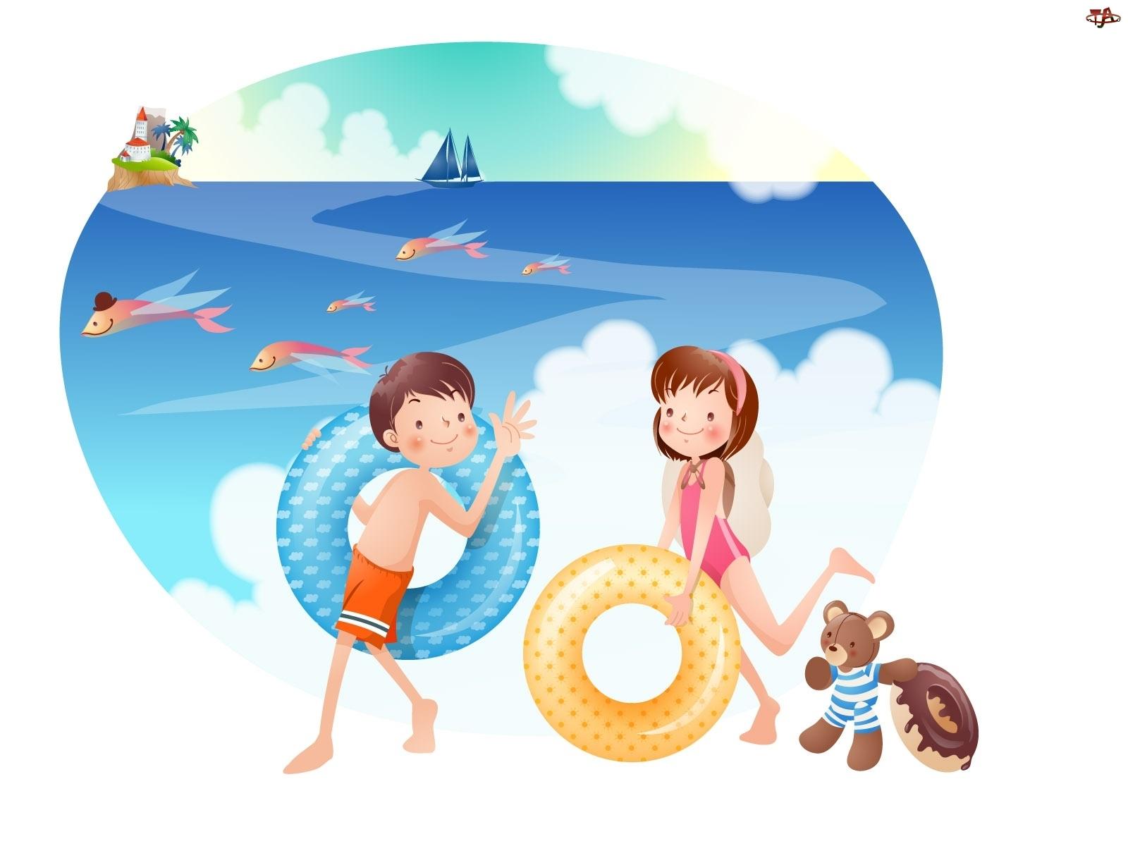 Dzieci, Plaża