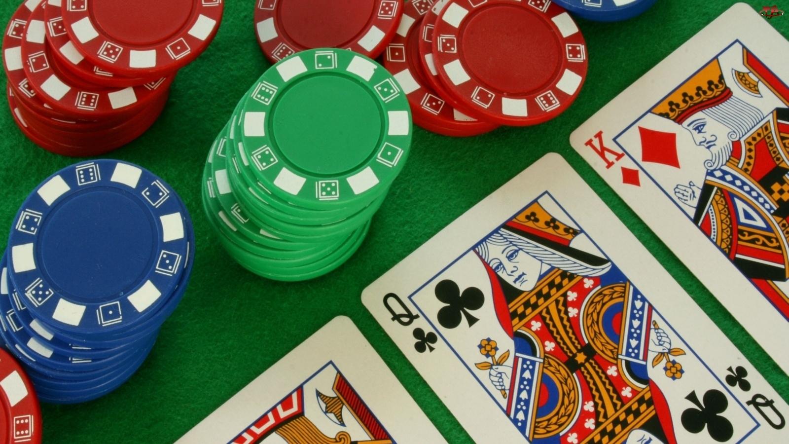 Kasyno, Poker, Żetony, Karty
