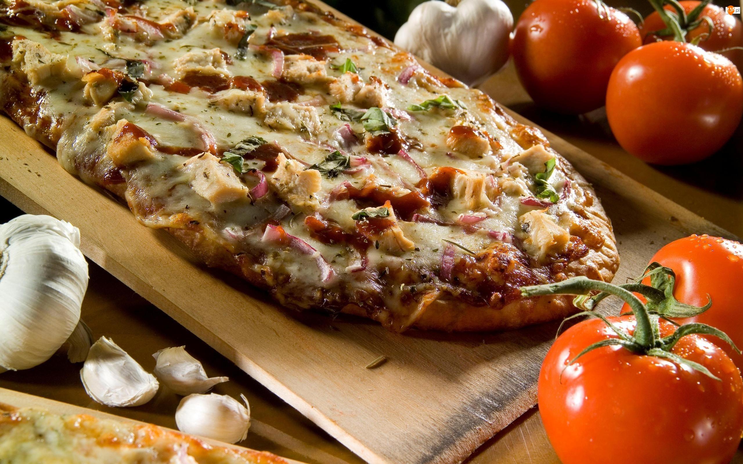 Czosnek, Zapiekanka, Pomidory