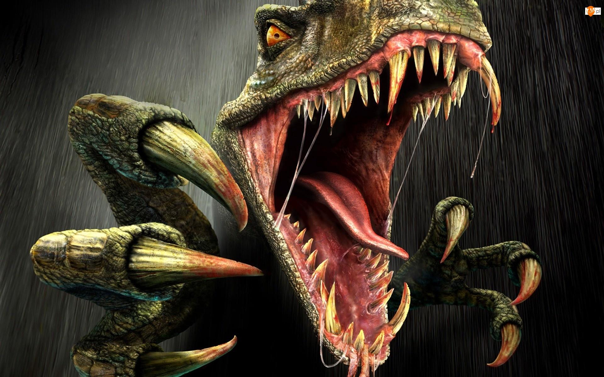 Turok, Pazury, Gra, Dinozaur