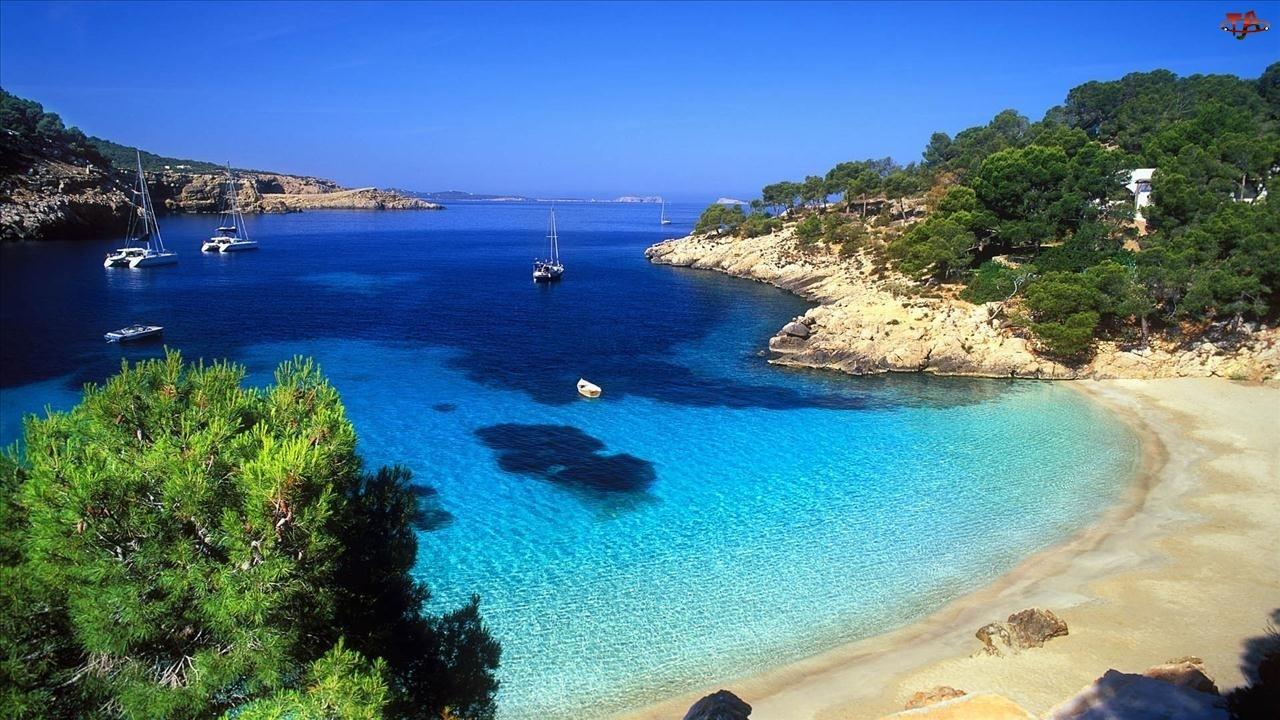 Plaża, Jacht, Zatoka, Morze