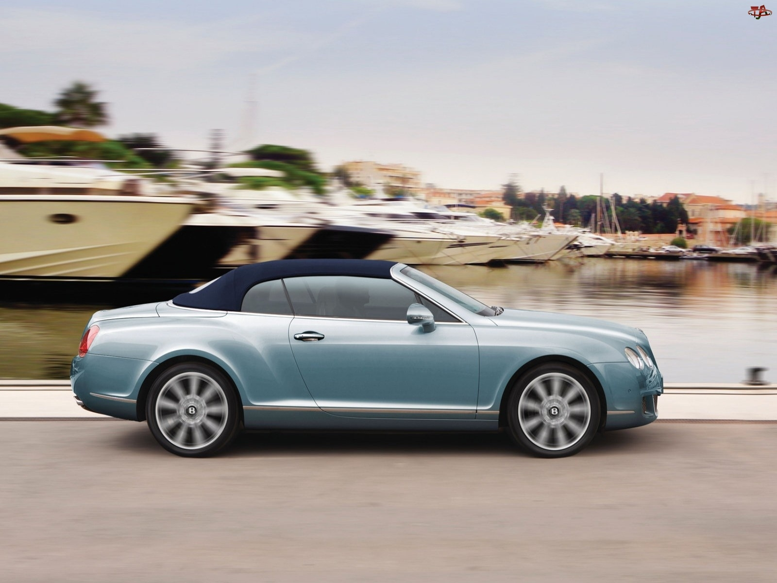 Dach, Bentley Continental GTC, Brezentowy