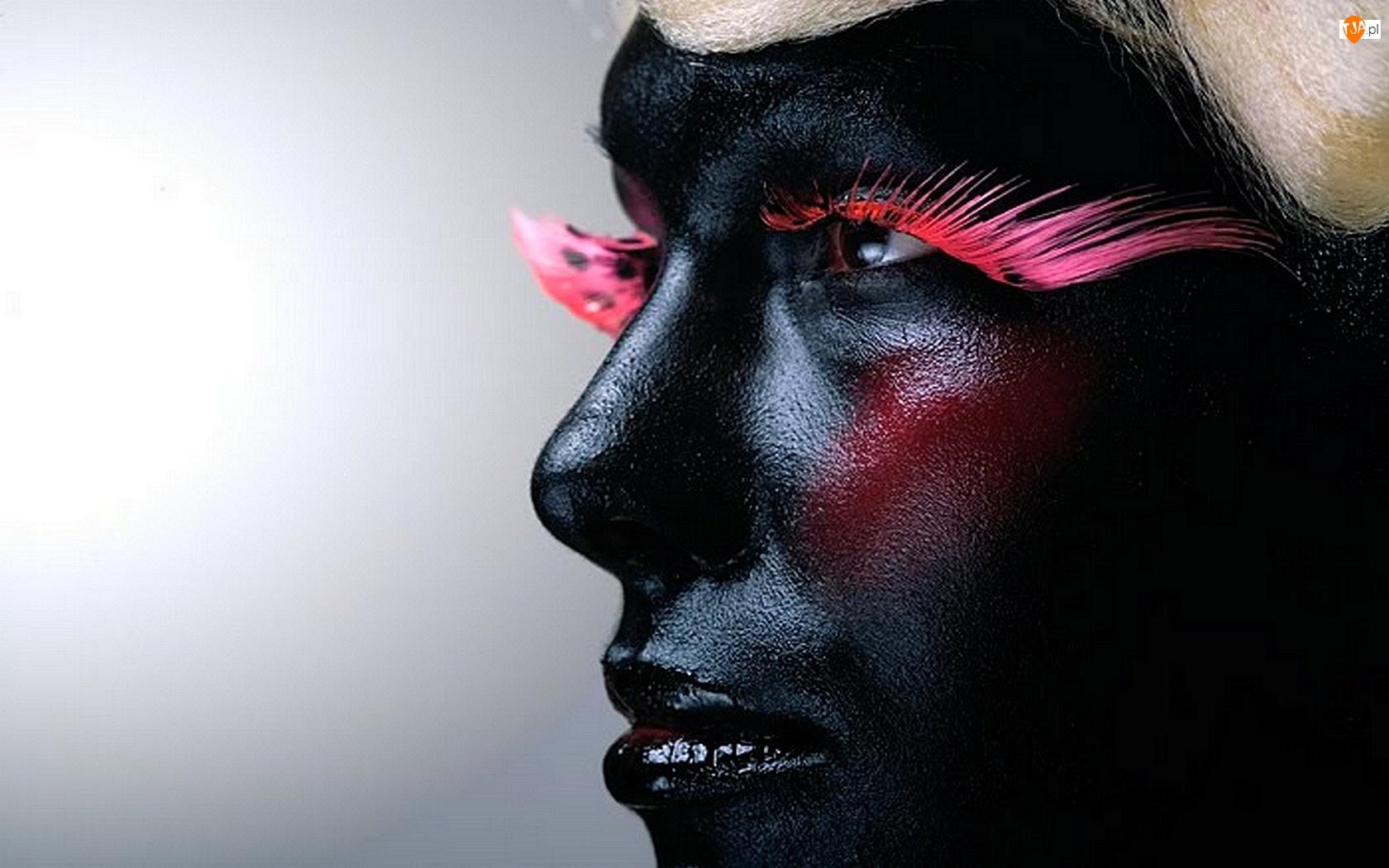 Cera, Kobieta, Charakteryzacja, Makijaż, Czarna