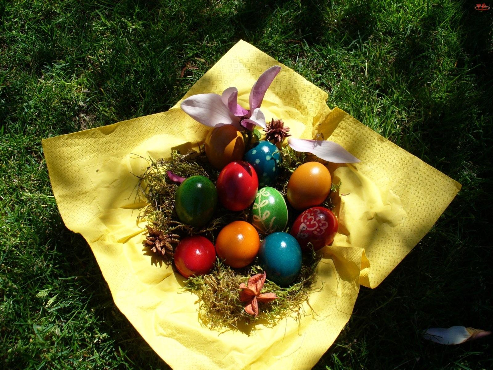 Pisanki, Wielkanocne, Kolorowe