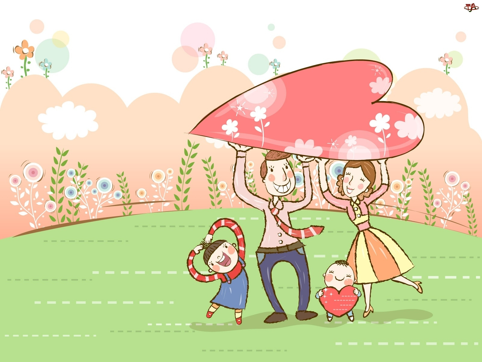 Szczęśliwa, Taniec, Rodzinka, Serca