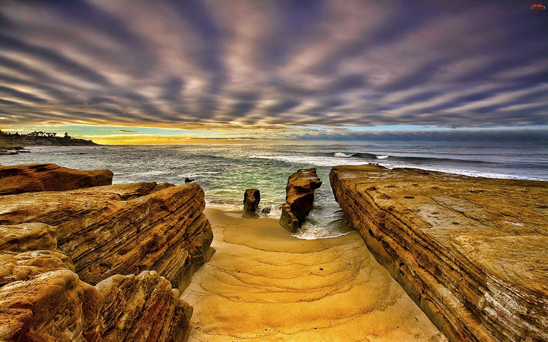 Skały, Morze, Plaża
