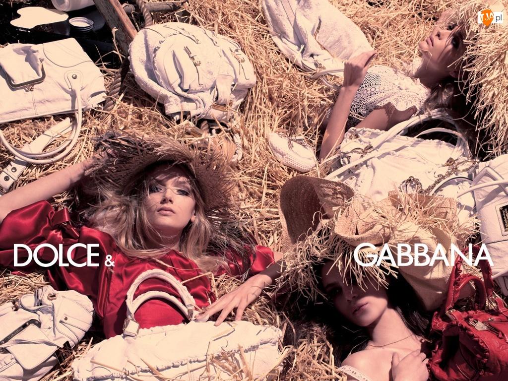 kapelusze, Dolce And Gabbana, bluzka, kobiety, torebki