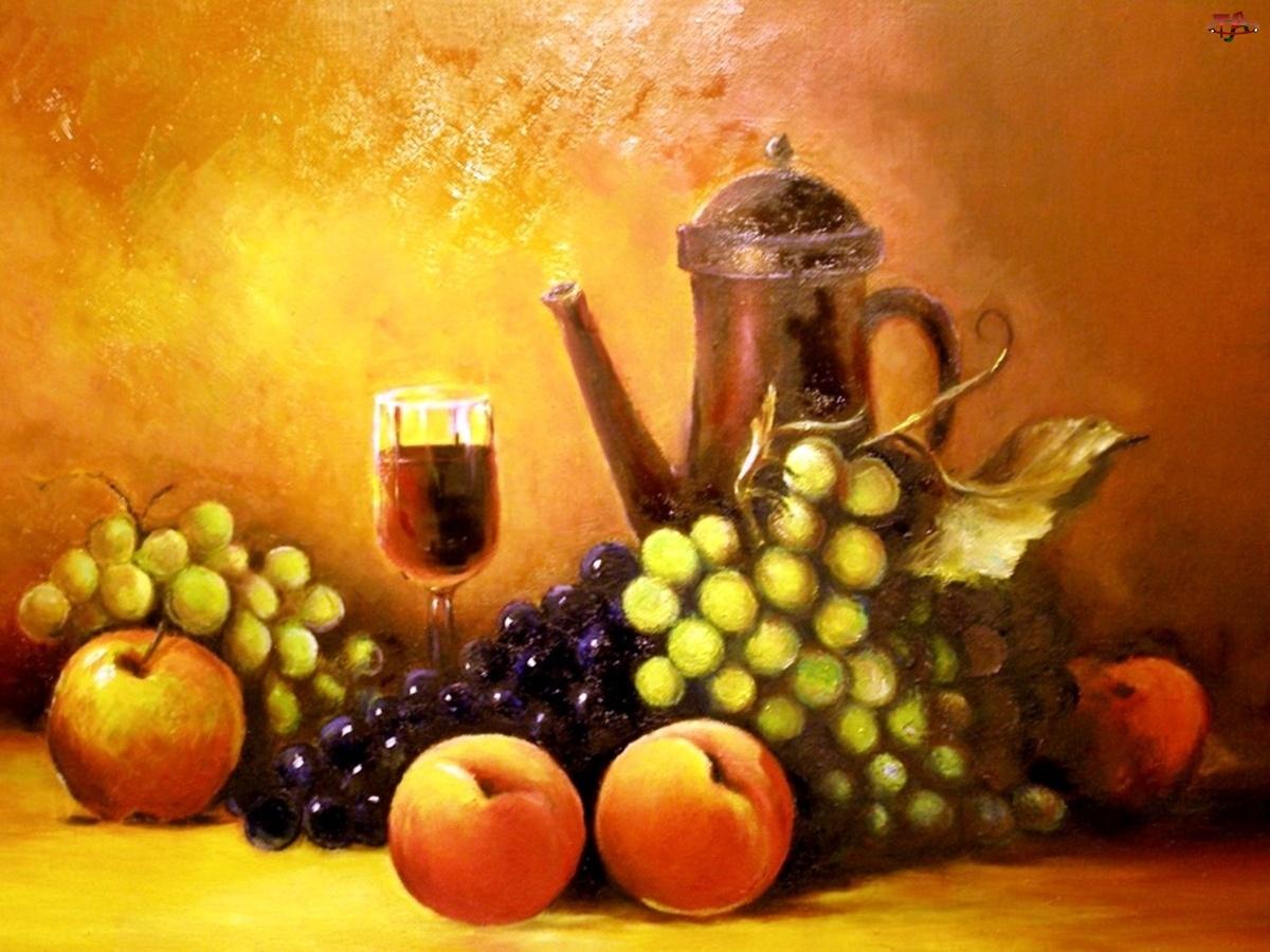 Owoce, Obraz, Martwa, Natura